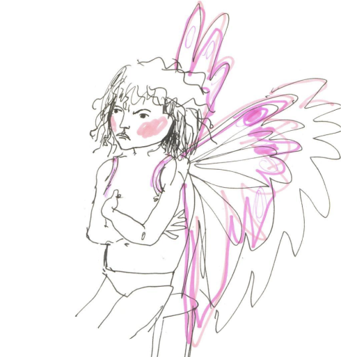 Illustration of a child dressed as a fairy