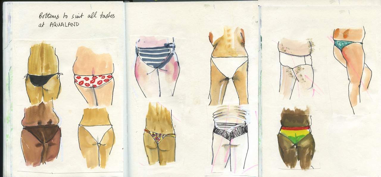 Bottoms In Bikinis
