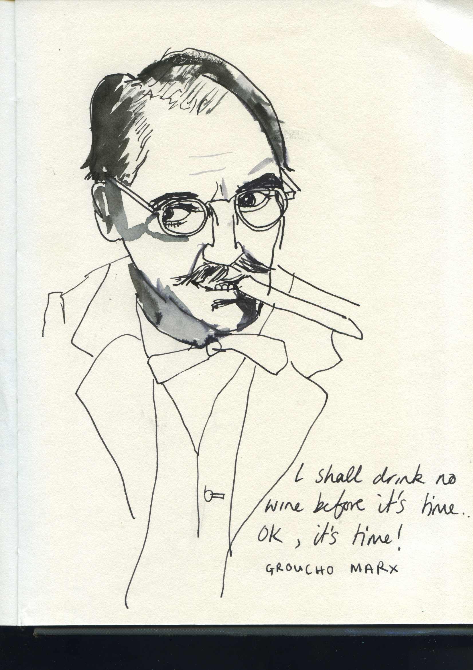 Groucho Marx quote and portrait