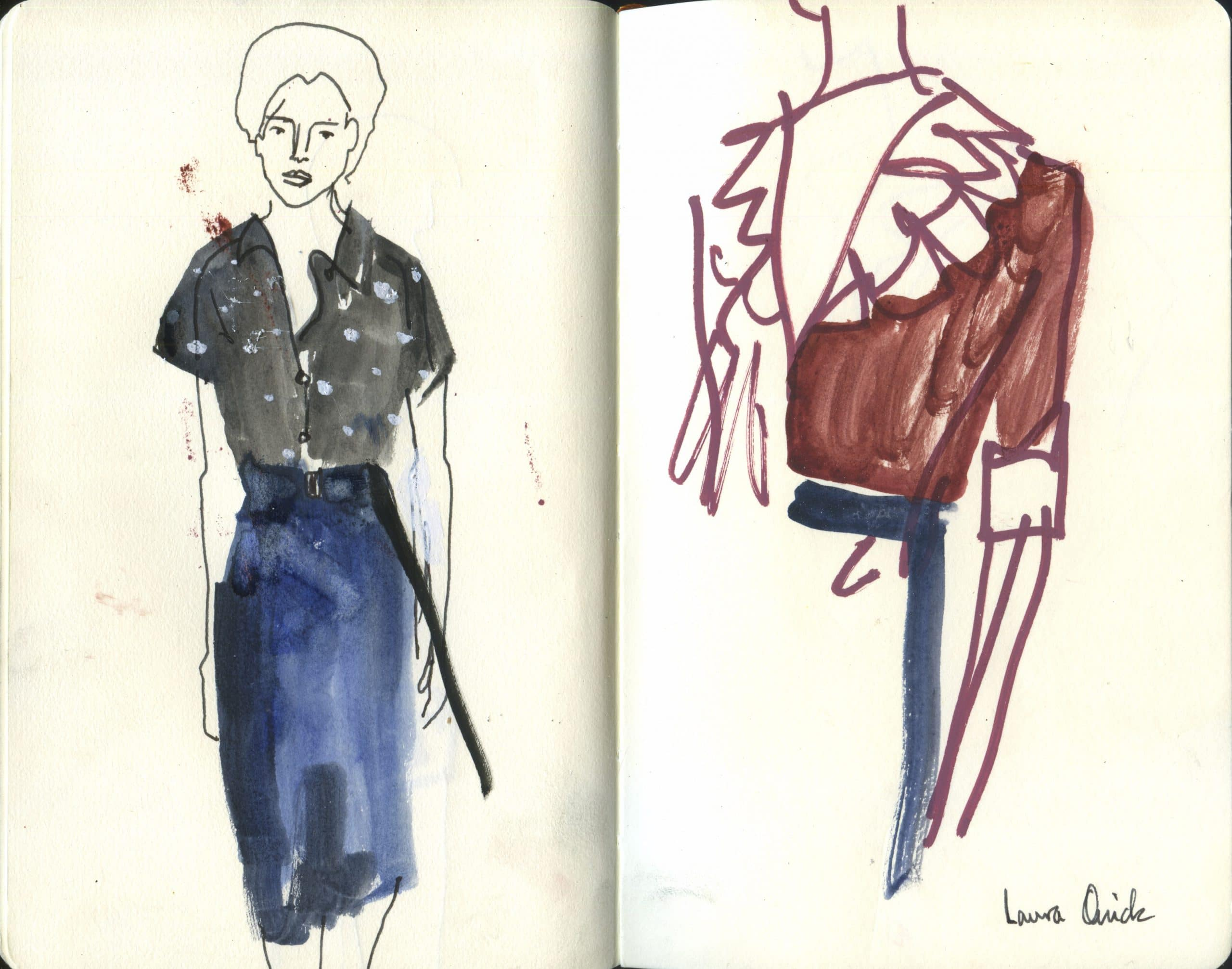 Live Drawings At London Fashion Week