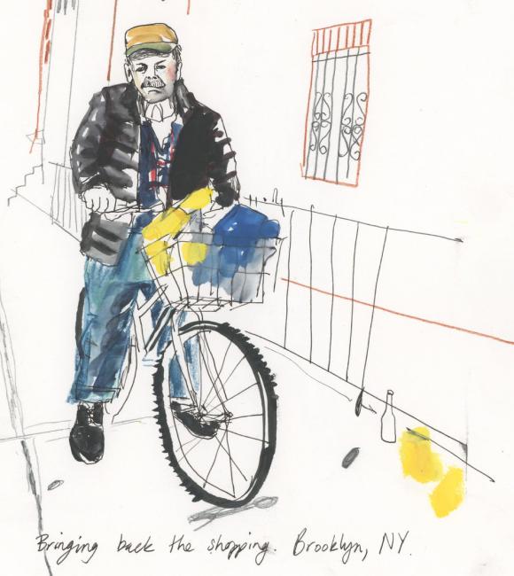 New Yorker on Bike
